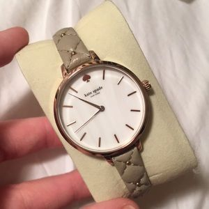 Kate Spade watch tan/creme color with marbled face